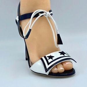 NIB DOLCE & GABBANA Navy Sailor Star Sandals Heels